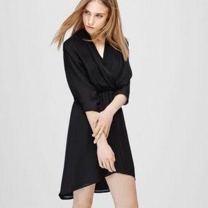 Aritizia Babaton size xs black silk dress.